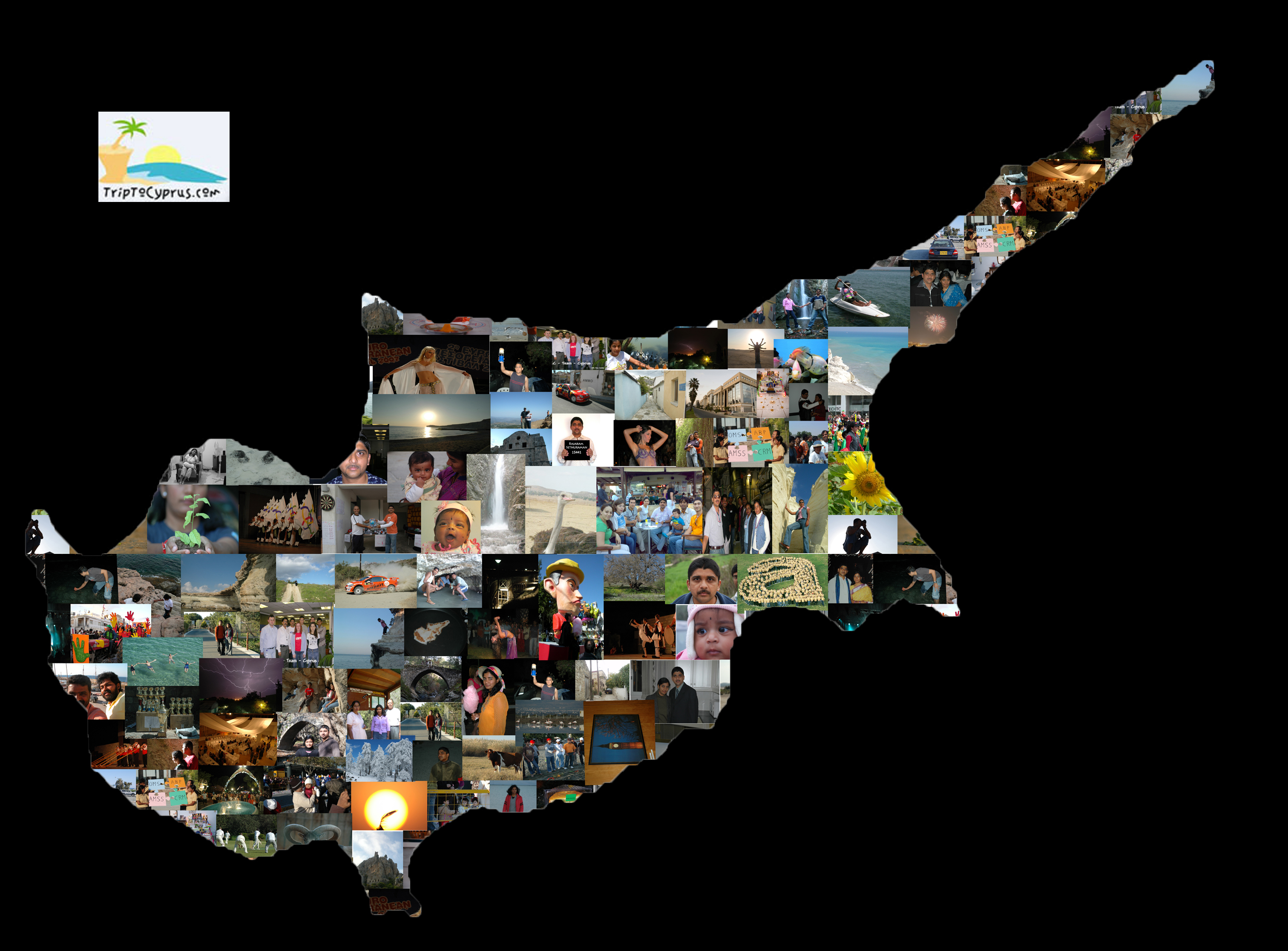 Photo collage on a cyprus map the cyprus blog cyprus poster gumiabroncs Images